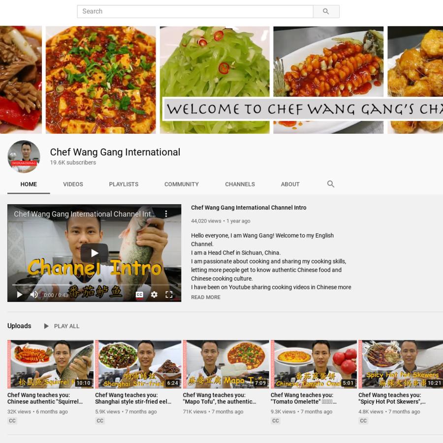 Chef Wang Gang International